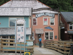 The Entrance to Creek Street, Ketchikan, Alaska