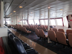 The comfortable forward lounge on the Kennicott