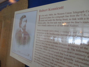 A ferry boat display about Robert Kennicott, the boat's namesake