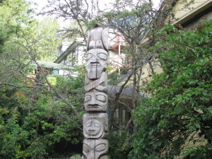 Totem poles abound in Juneau